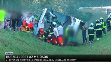 Wypadek polskiego autokaru na Węgrzech