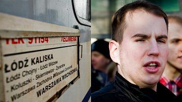 Poseł Adam Andruszkiewicz krytykuje nazwy pociągów PKP
