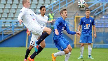 Lech Poznań - Pogoń Szczecin 0:0 w sparingu rozegranym we Wronkach. Karol Linetty i Mateusz Matras