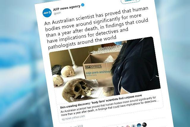 Nowe odkrycie. Ciało po śmierci jeszcze długo pozostaje w ruchu