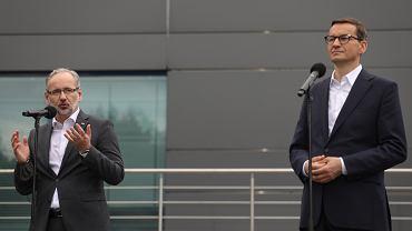 Premier Mateusz Morawiecki i minister zdrowia Adam Niedzielski