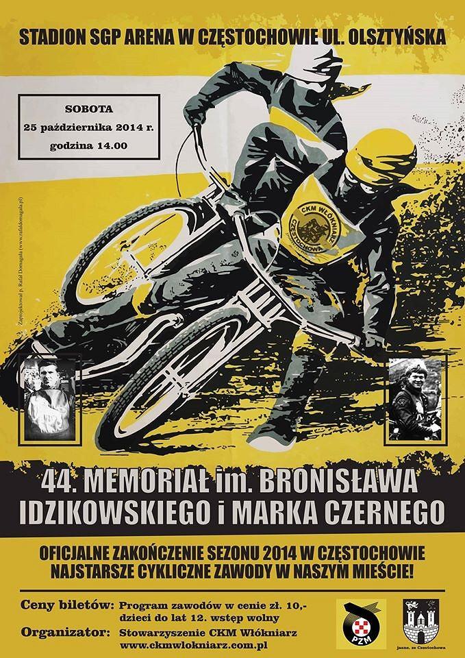 Plakat Memoriału Bronisława Idzikowskiego i Marka Czernego