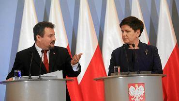 14.03.2018, Warszawa, konferencja prasowa wicepremier Beaty Szydło i prezesa UOKIK-u Marka Niechciała.