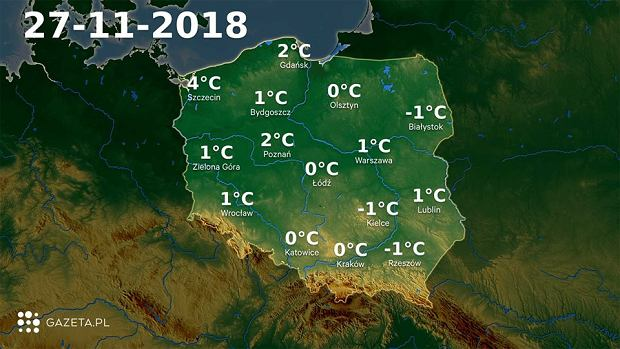 Pogoda na dziś. Najwyższa temperatura na północnym zachodzie kraju