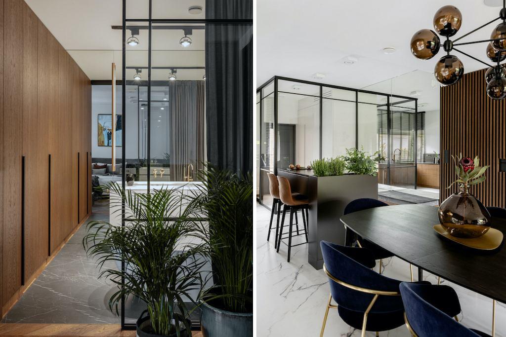 Nowoczesna kuchnia połączona z jadalnią. Realizacja: Modoso Interiors.
