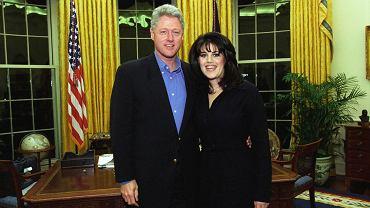 Bill Clinton i Monica Lewinsky w Białym Domu