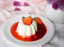 Waniliowa panna cotta z truskawkami - ugotuj