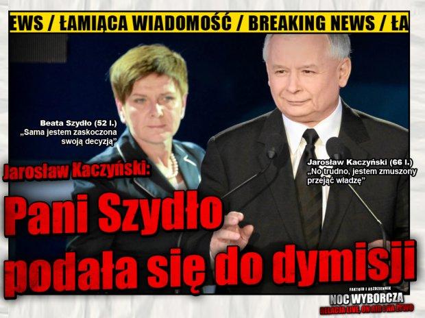 Beata szydło podała się do dymisji [Faktoid] - WYGRYWA WYBORY!!! TYLKO U NAS pierwsze słowa Jarosława Kaczyńskiego (66 l.): - Faktoid