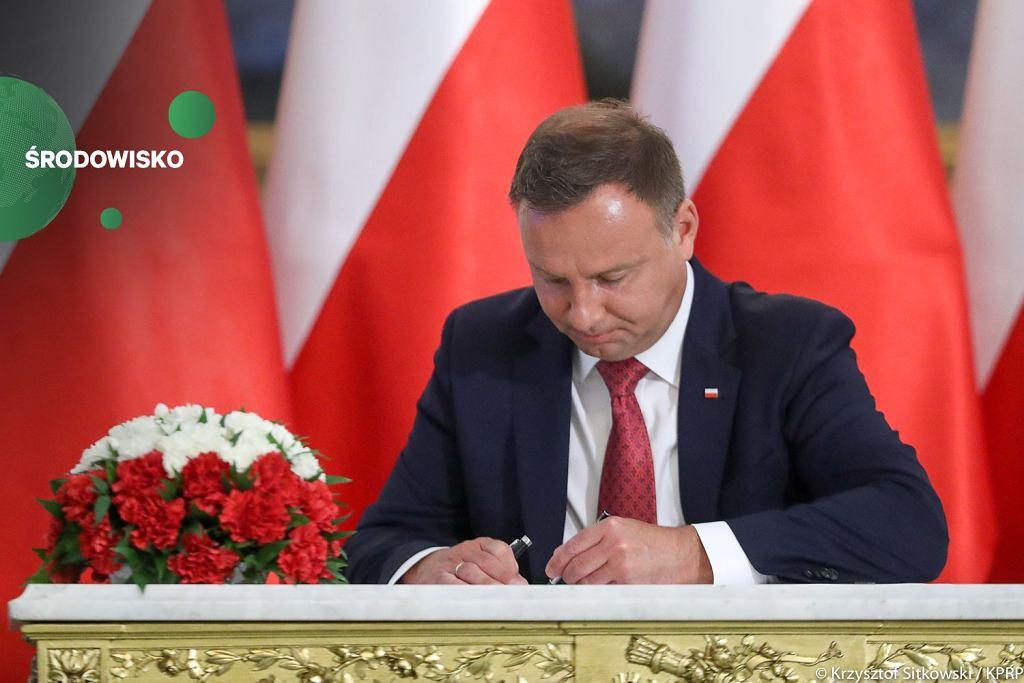 Andrzej Duda podpisał nowelę ustawy o ochronie środowiska