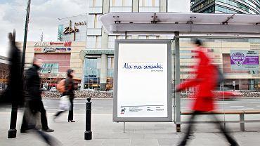 Plakat poruszający problem przemocy