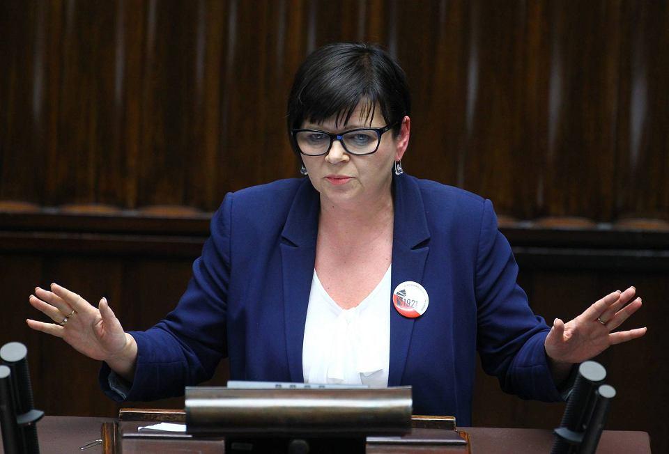 Posiedzenie Sejmu, 11 maja 2016 r. Izabela Leszczyna - była wiceminister finansów, posłanka PO