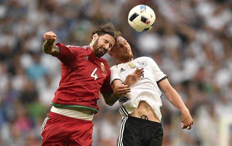 Niemcy - Węgry 2:0 w meczu towarzyskim. Tamas Kadar z Lecha Poznań