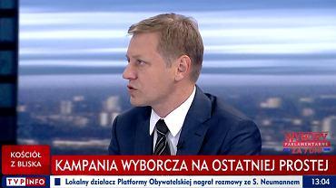 Norbert Maliszewski będzie szefem Centrum Analiz Strategicznych / Fot. TVP Info