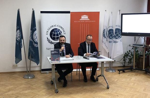 Rzecznik Praw Obywatelskich, dr Adam Bodnar oraz Kamil Wyszkowski z Global Compact Network Poland