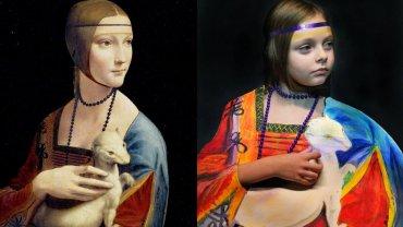 """Dama z gronostajem"". Leonardo da Vinci"