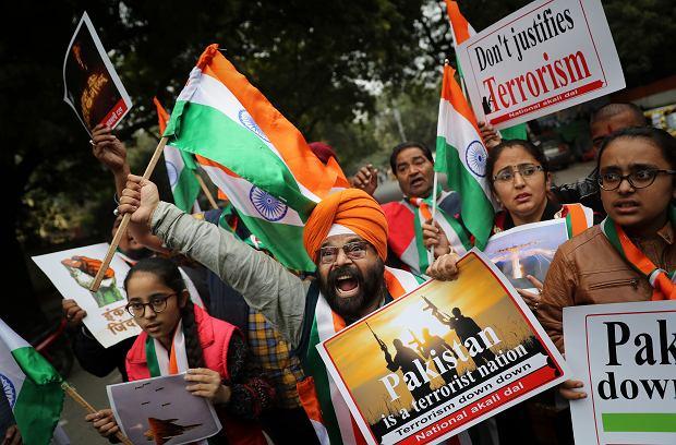 Demonstracja nacjonalistów w Indiach, domagających się uderzenia w Pakistan