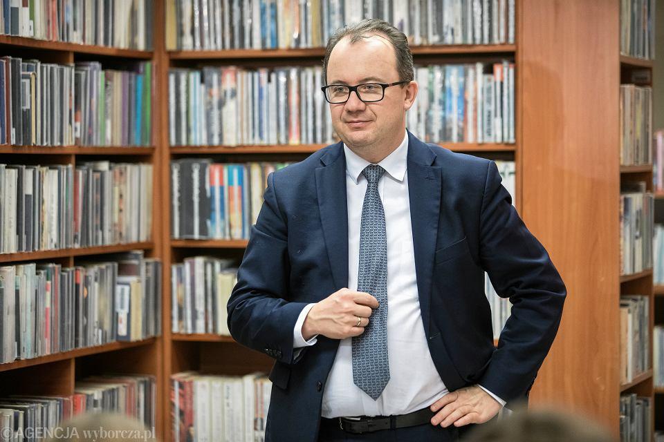 10.01.2019, rzecznik praw obywatelskich Adam Bodnar na spotkaniu z mieszkańcami Lublina.