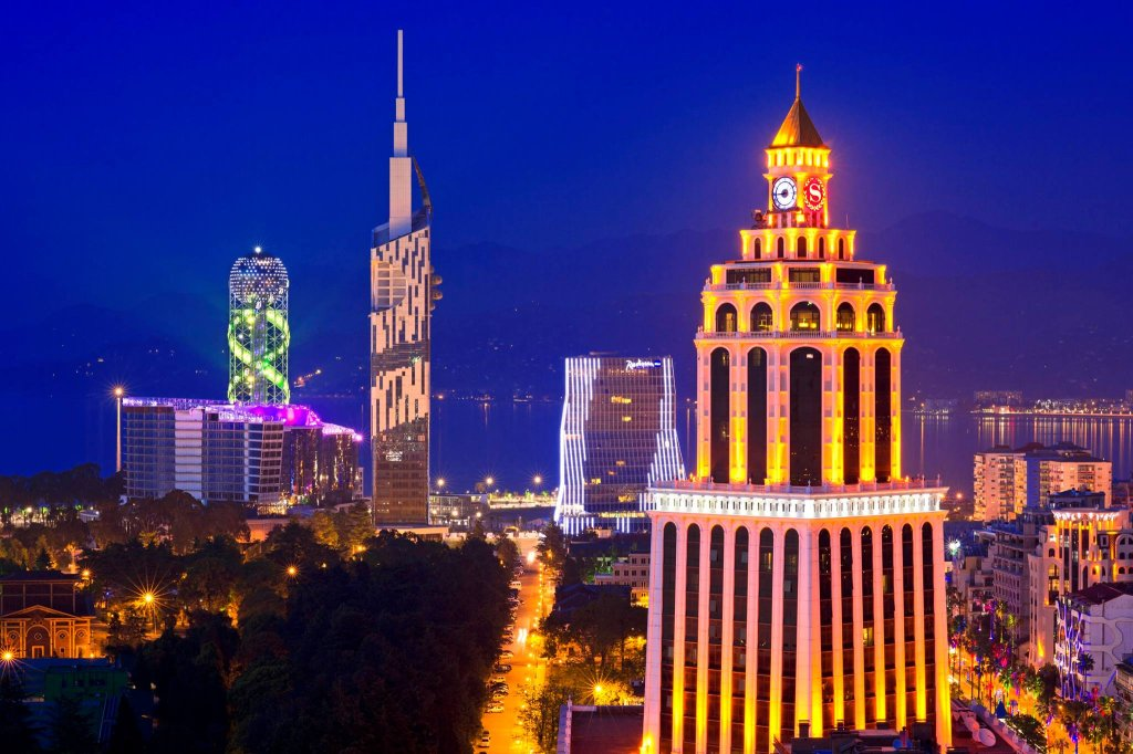 Batumi nocą. Adżaria, Gruzja
