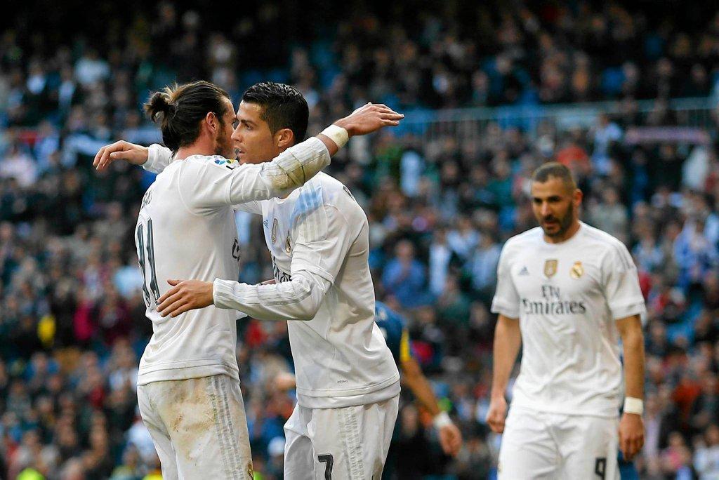 Cristiano Ronaldo, Gareth Bale i Karim Benzema
