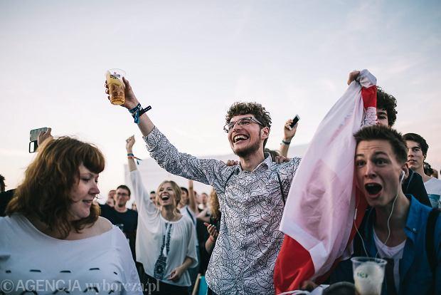 Festiwalowicze kibicuja naszym w meczu 1/4 finalu Euro 2016 we Francji