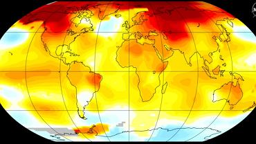 Anomalia temperatur na Ziemi w 2016 roku