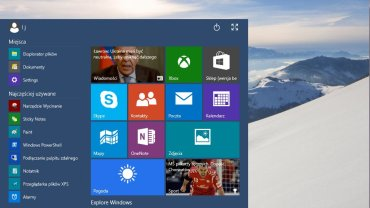 Manu Start w Windows 10