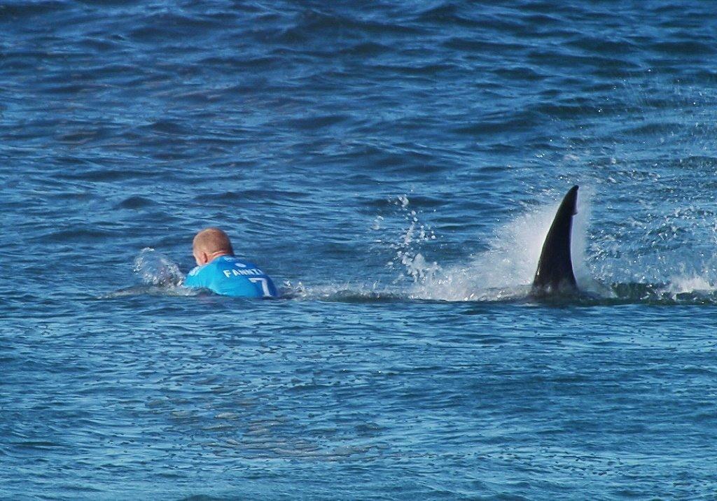 Mick Flanning zaatakowany przez rekina