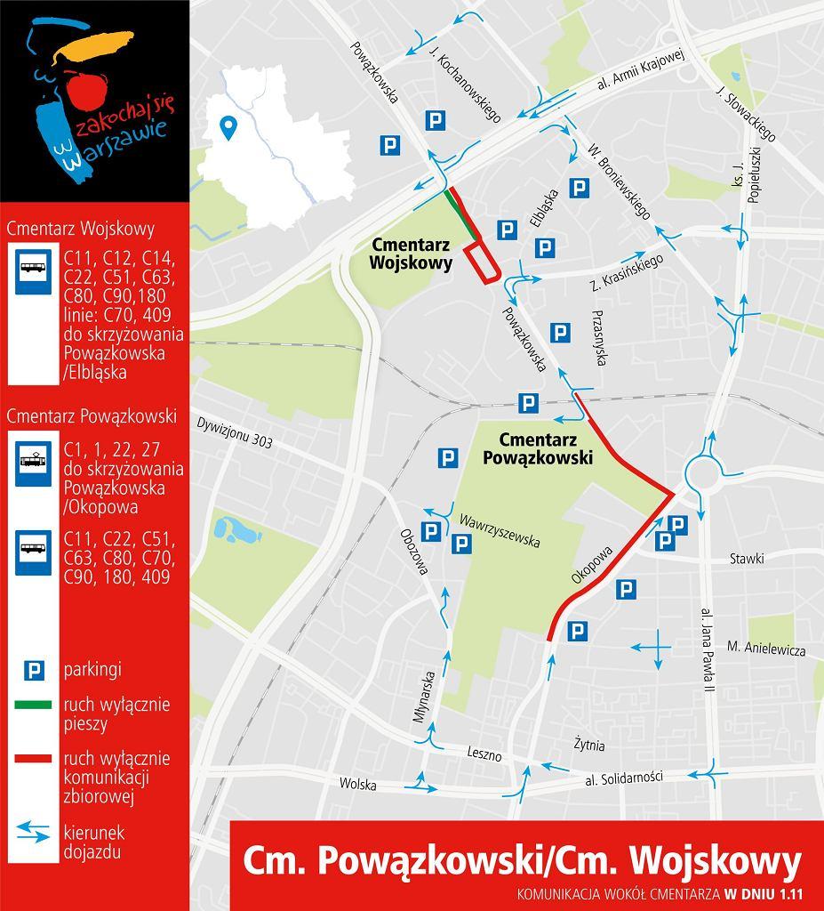 Cmentarz Powązkowski i Cmentarz Wojskowy