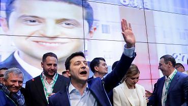 Wołodymyr Zełenski po ogłoszeniu exit polli.