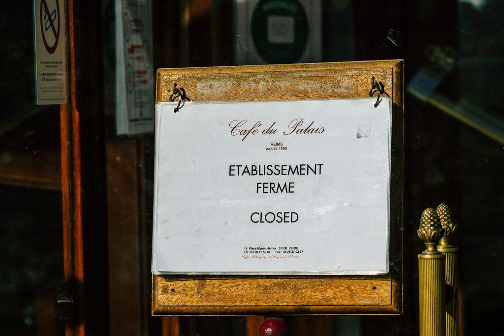 Francja zamknięta restauracja