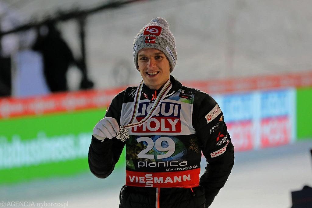 Halvor Egner Granerud na skoczni w Planicy