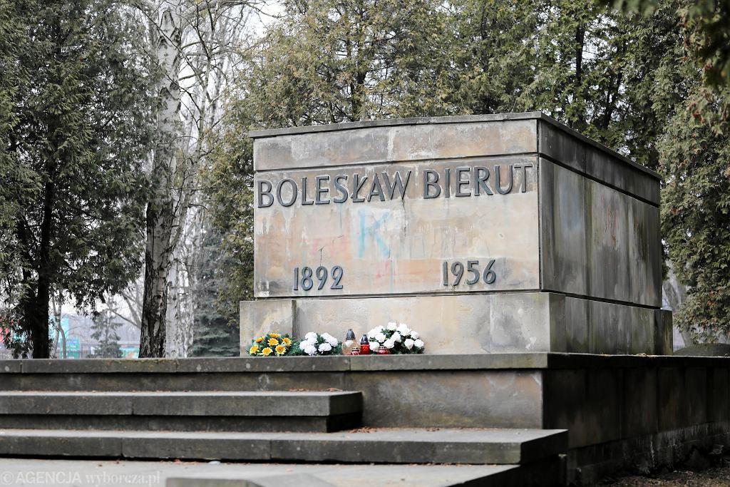 Grób Bolesława Bieruta na Powązkach Wojskowych. Warszawa, 26 marca 2018