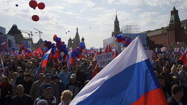 Demonstracja poparcia dla Putina