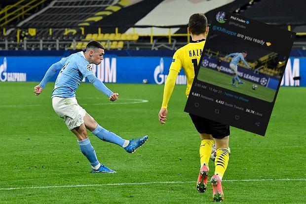 Phil Foden (Manchester City) wpadka zespołu od mediów społecznościowych po meczu z BVB w 1/4 Ligi Mistrzów. Źródło: AP/ Twitter