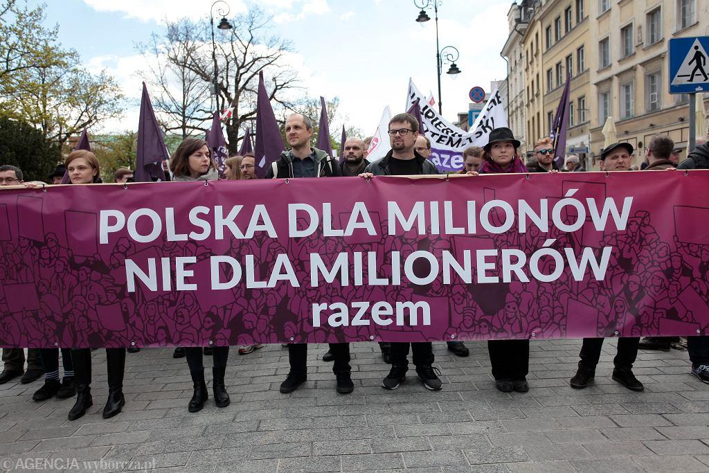 Święto Pracy na ulicach Warszawy