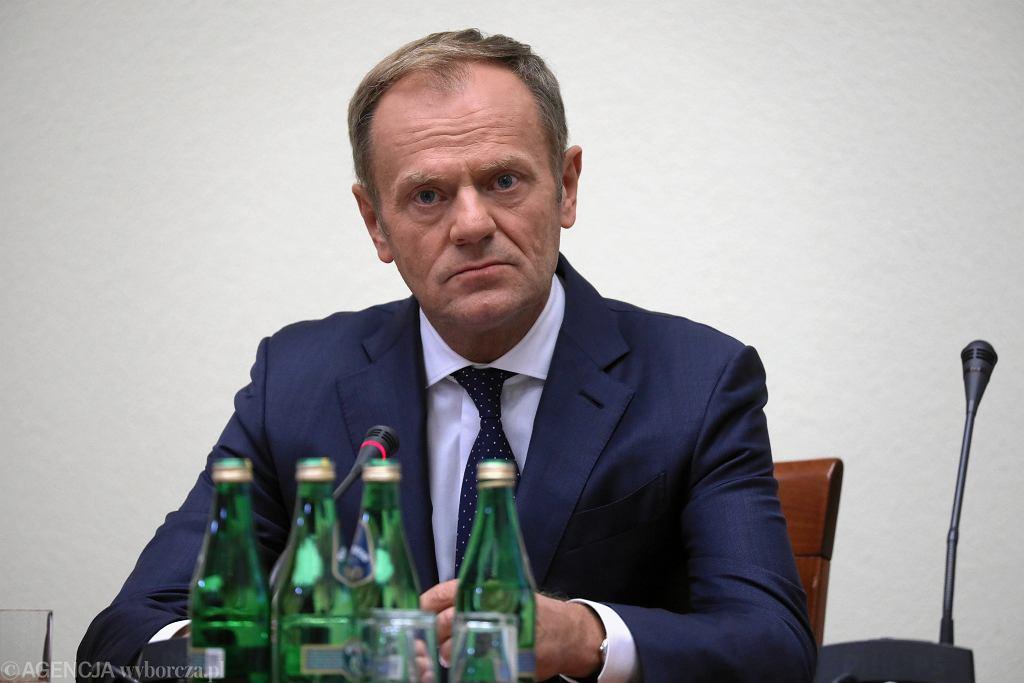 (Donald Tusk przed Komisja Sledcza ds VAT
