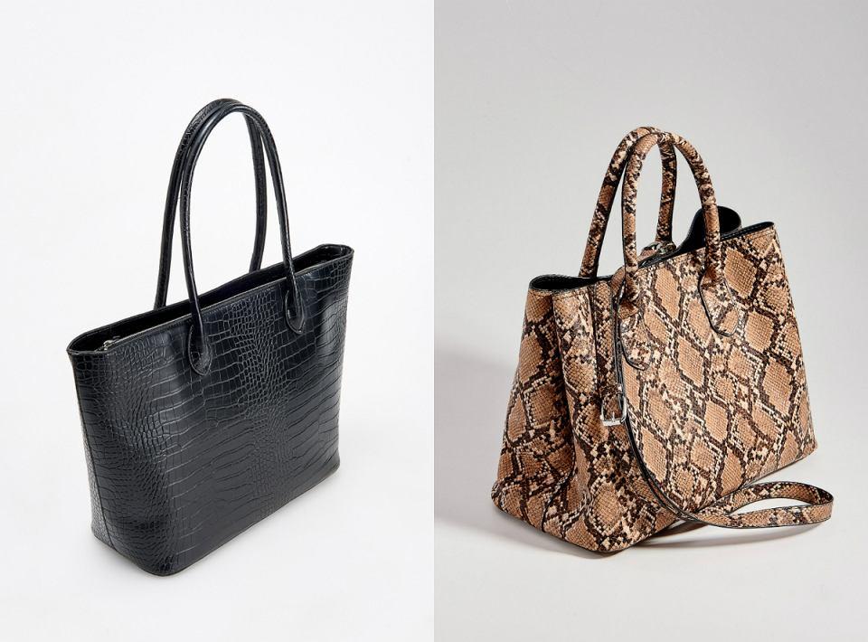 Pojemne torby ze zwierzęcym wzorem