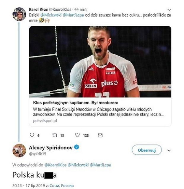 Spiridonow zaatakował Kłosa