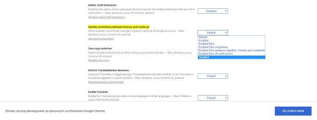 Synchronizacja w Google Chrome