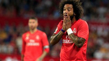 Real Madryt przegrał z Sevillą 0:3. Na zdjęciu Marcelo