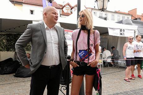 Audioriver. Andrzej Nowakowski i Anja Rubik