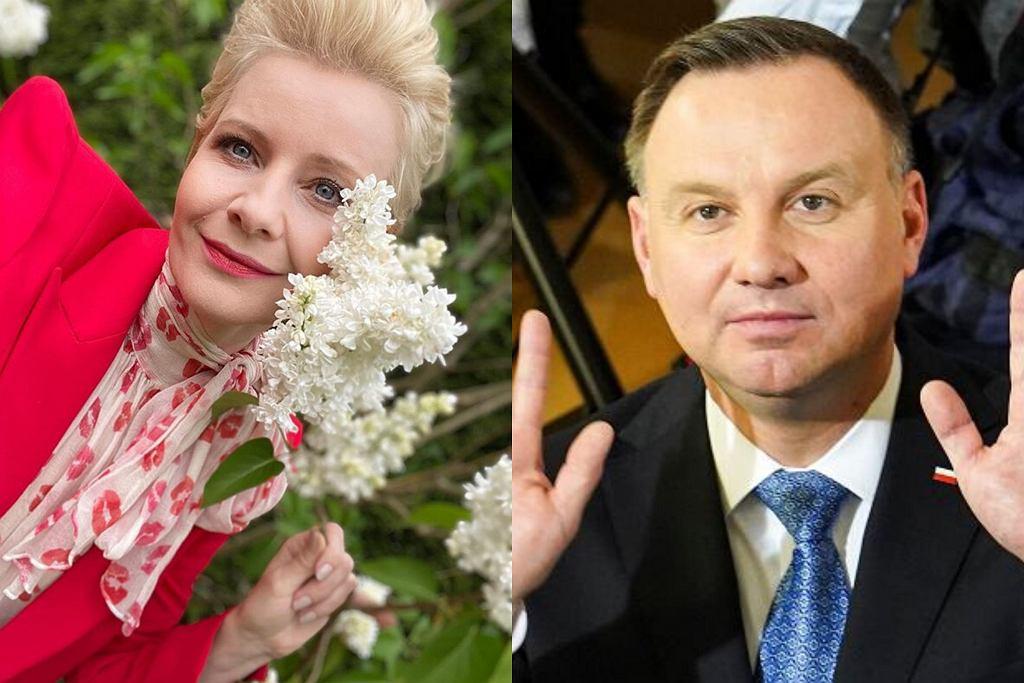 Andrzej Duda i Małgorzata Kożuchowska