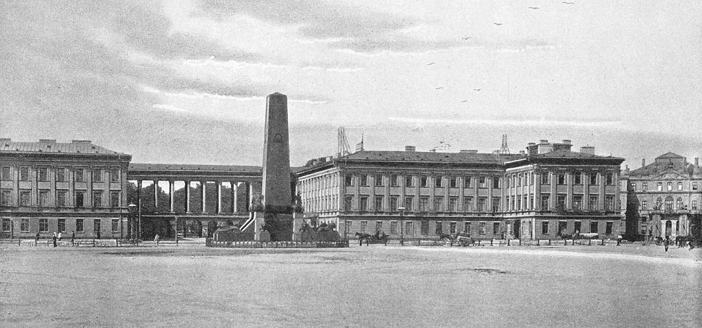 Pałac Saski około 1890 roku