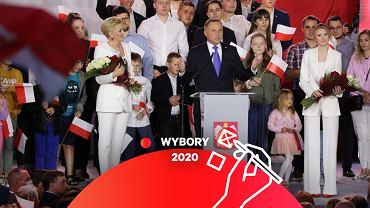 Andrzej Duda podczas wieczoru wyborczego w Pułtusku
