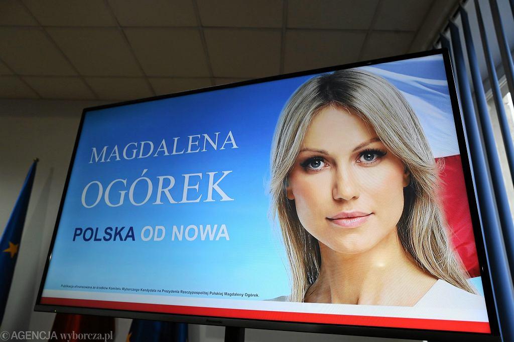 Konferencja prasowa sztabu Magdaleny Ogórek - w Warszawie