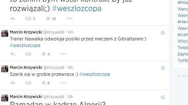 Marcin Krzywicki szaleje na Twitterze