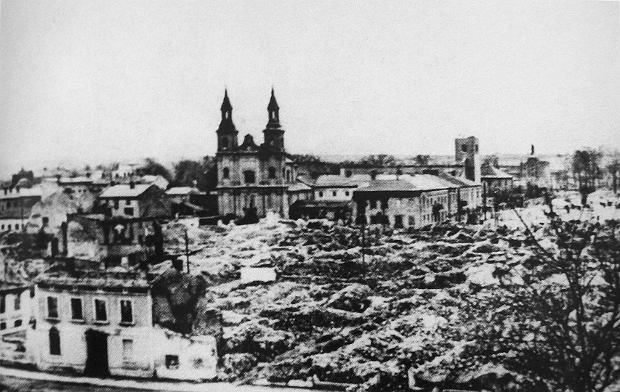 Zniszczenia centrum Wielunia