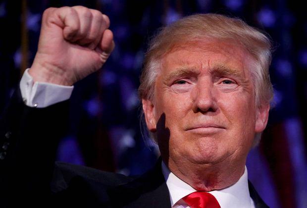 Donald Trump świętuje zwycięstwo w wyborach prezydenckich w USA.