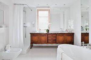 Drewno w łazience - aranżacje