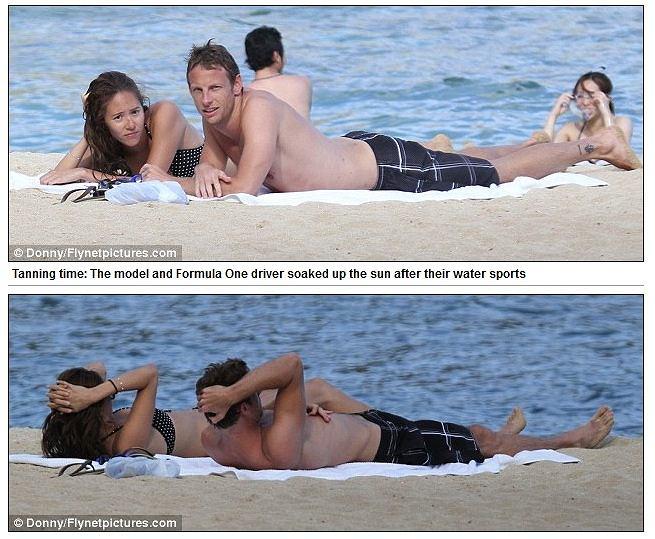Jenson Button i Jessica Michibata